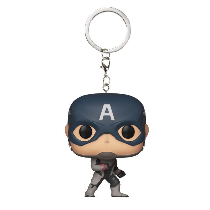 Chaveiro Funko Pocket Capitão América com traje Reino Quântico (Vingadores: Ultimato)