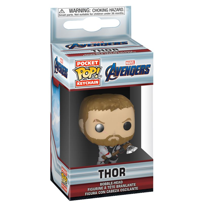 Chaveiro Funko Pocket Thor com traje Reino Quântico (Vingadores: Ultimato)