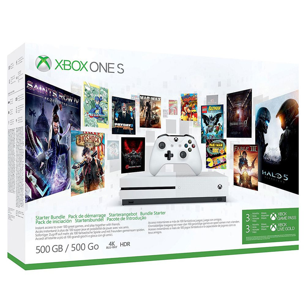 Console Xbox One S 1TB + 3 Meses Live + 3 Meses de Gamepass