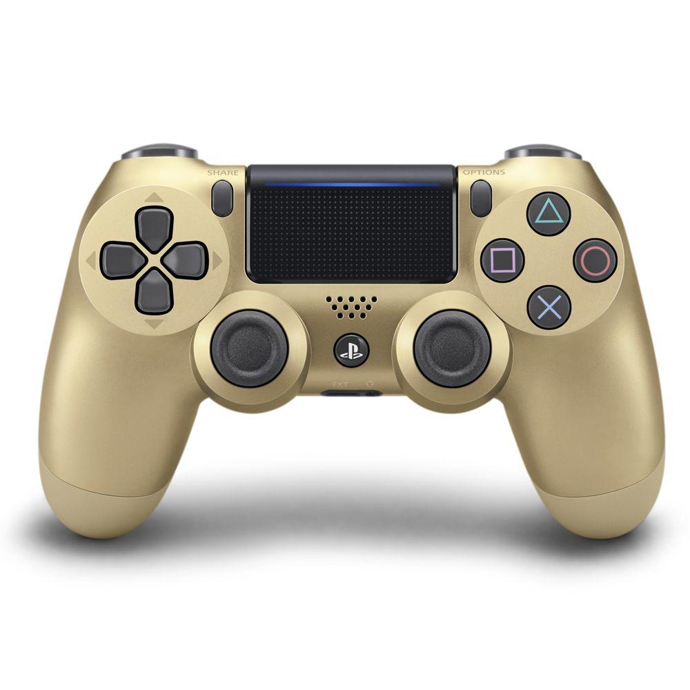 Controle PS4 Sem Fio Dualshock 4 Slim Dourado