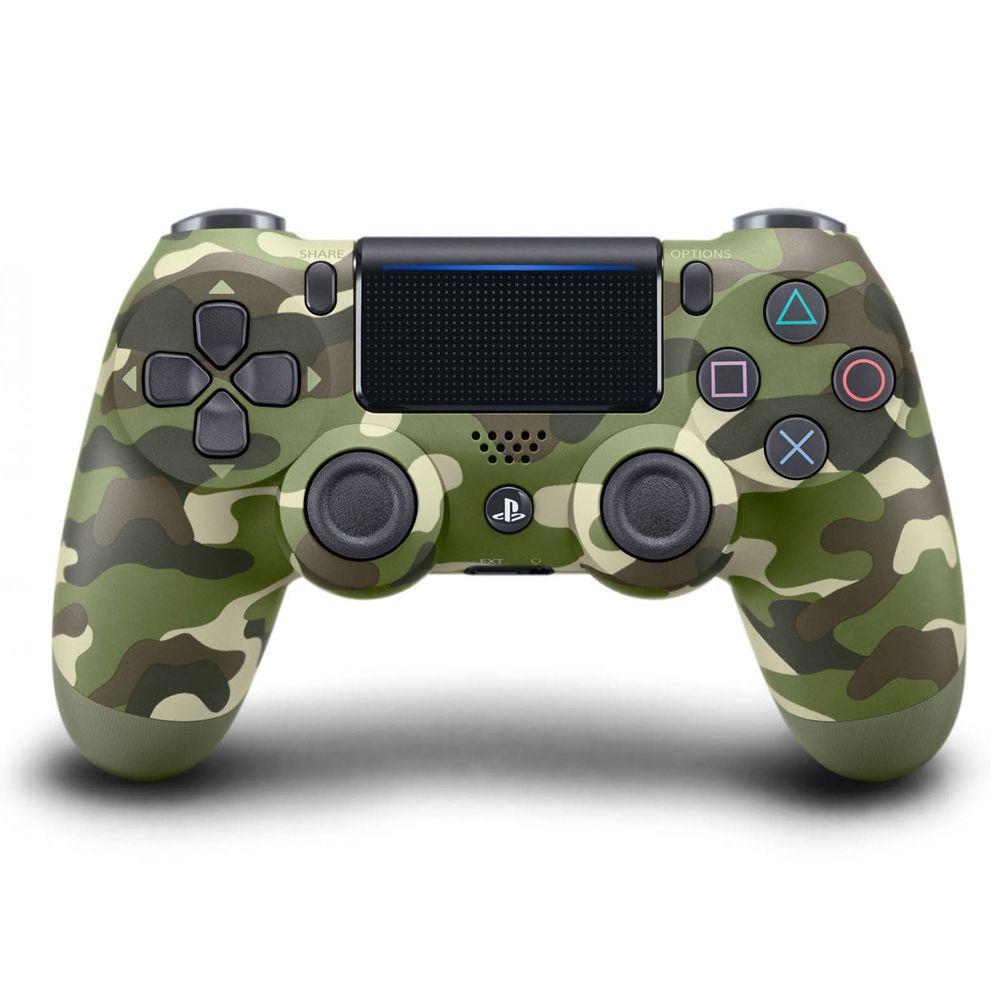 Controle PS4 Sem Fio Dualshock 4 Slim Verde Camuflagem