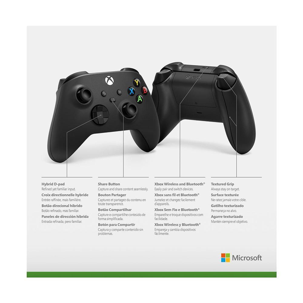 Controle sem fio Xbox Carbon Black - Xbox Series S, X, One