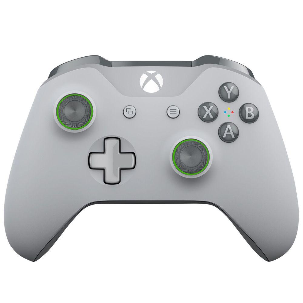 Controle Xbox One Sem Fio Cinza e Verde