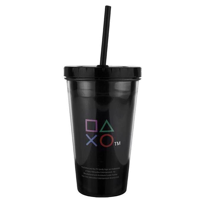 Copo com Canudo Playstation Clássico