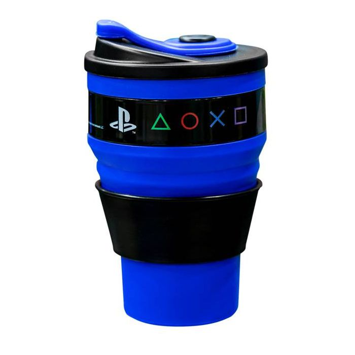 Copo Retrátil Azul Playstation