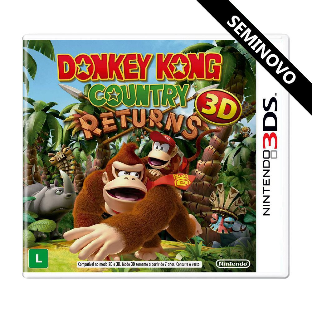 Donkey Kong Country Returns 3D - 3DS (Seminovo)