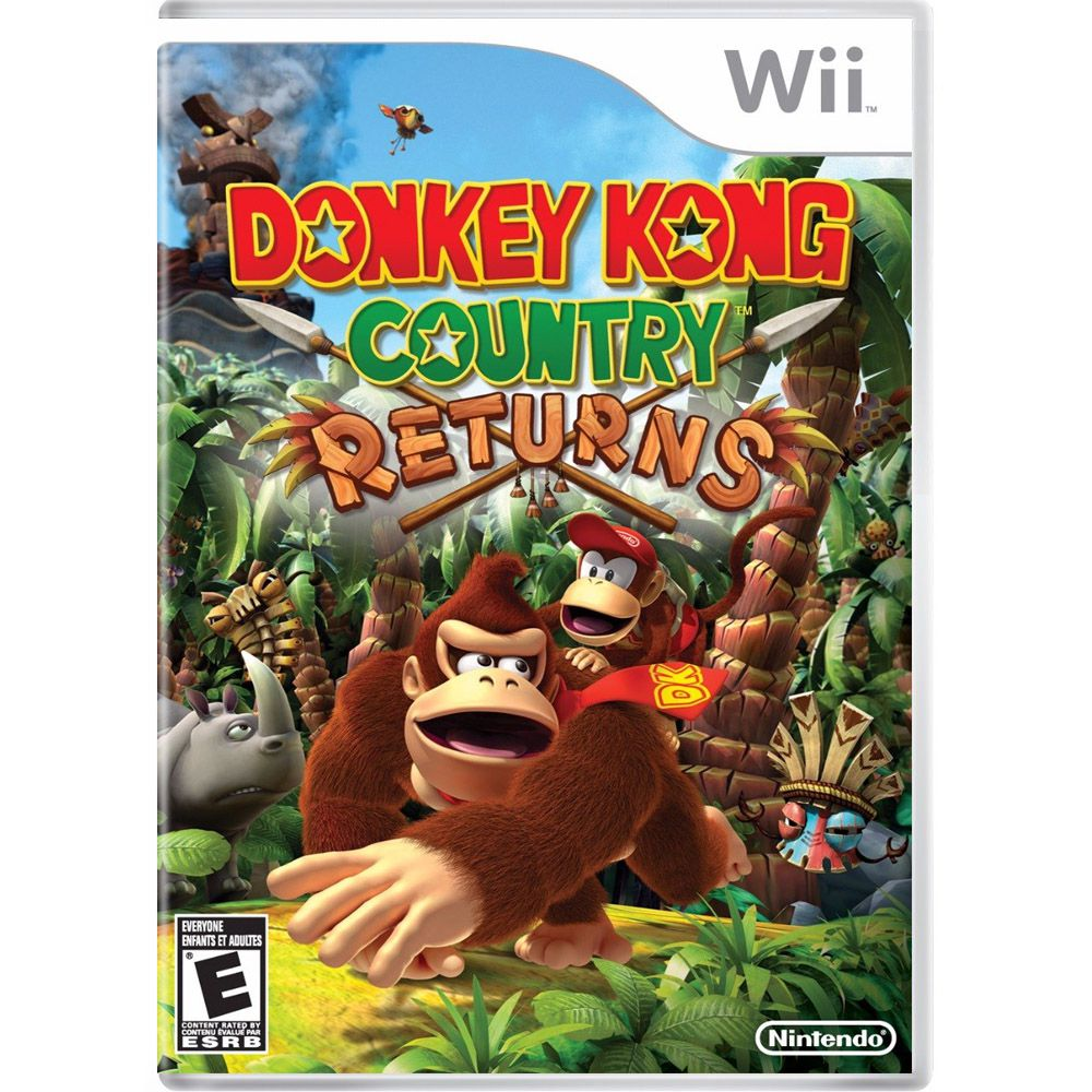Donkey Kong Country Returns para Wii - ActionGame.com.br