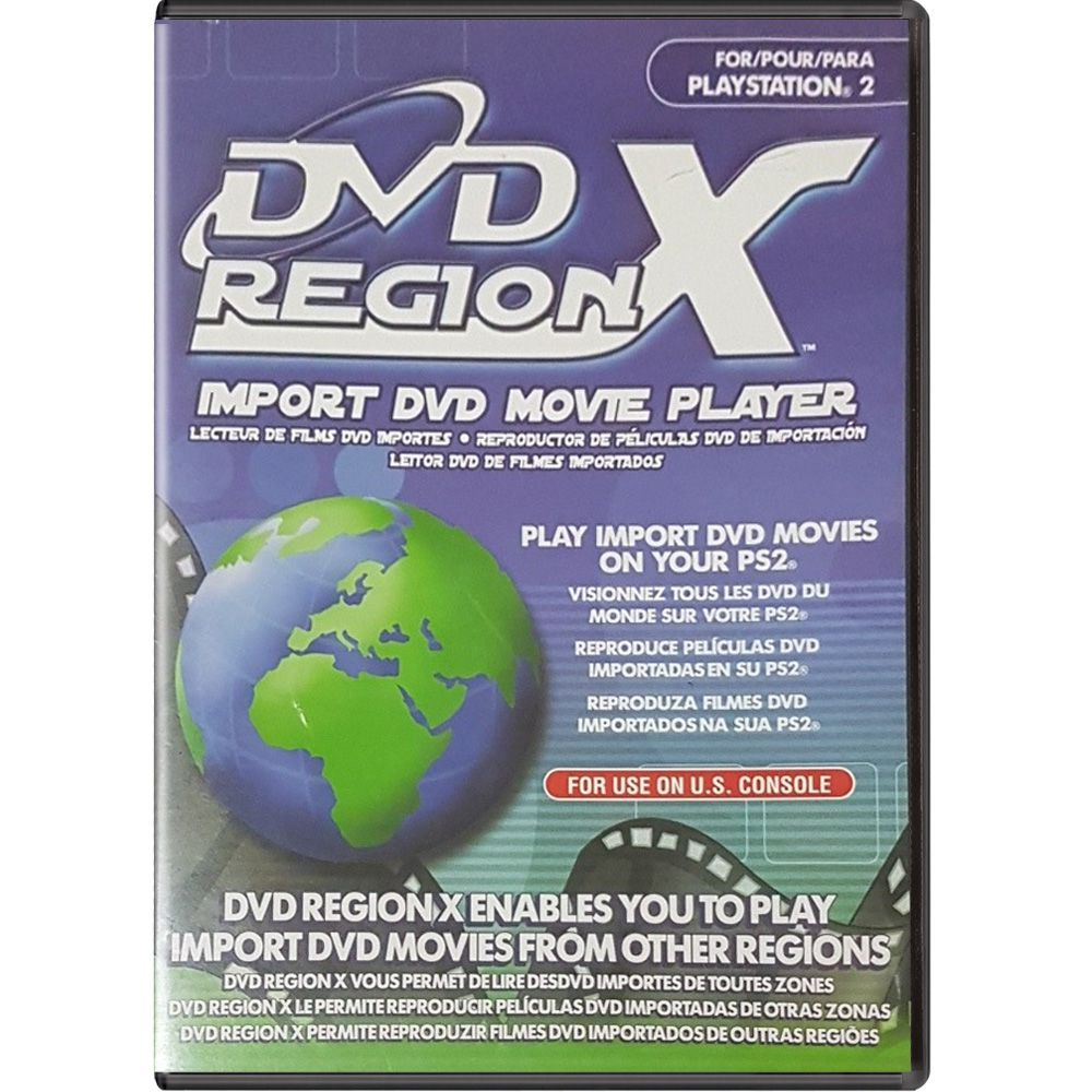 DVD Region X - PS2