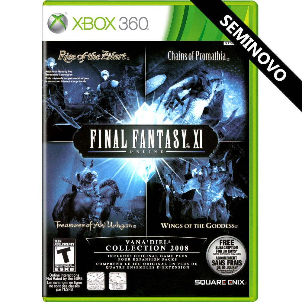 Final Fantasy XI Online Vana'Diel Collection 2008 - Xbox 360 (Seminovo)