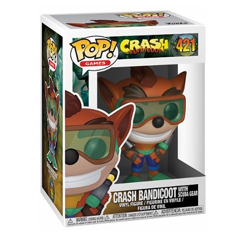 Funko Pop Crash Bandicoot com Roupa de Mergulho #421
