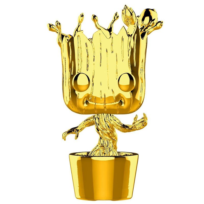 Funko Pop Dancing Groot Gold Chrome (Marvel Studios) #378