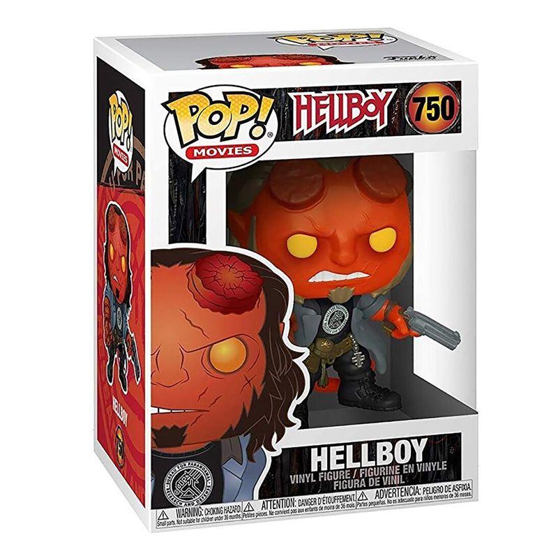 Funko Pop Hellboy com camiseta BPRD #750