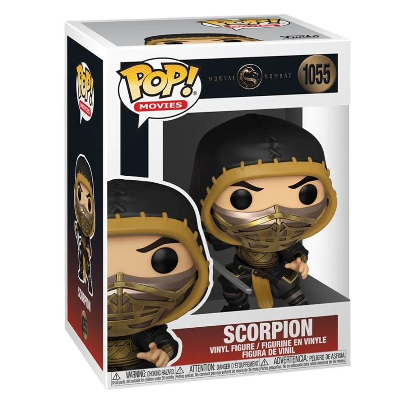 Funko Pop Scorpion com máscara (Mortal Kombat) 1055