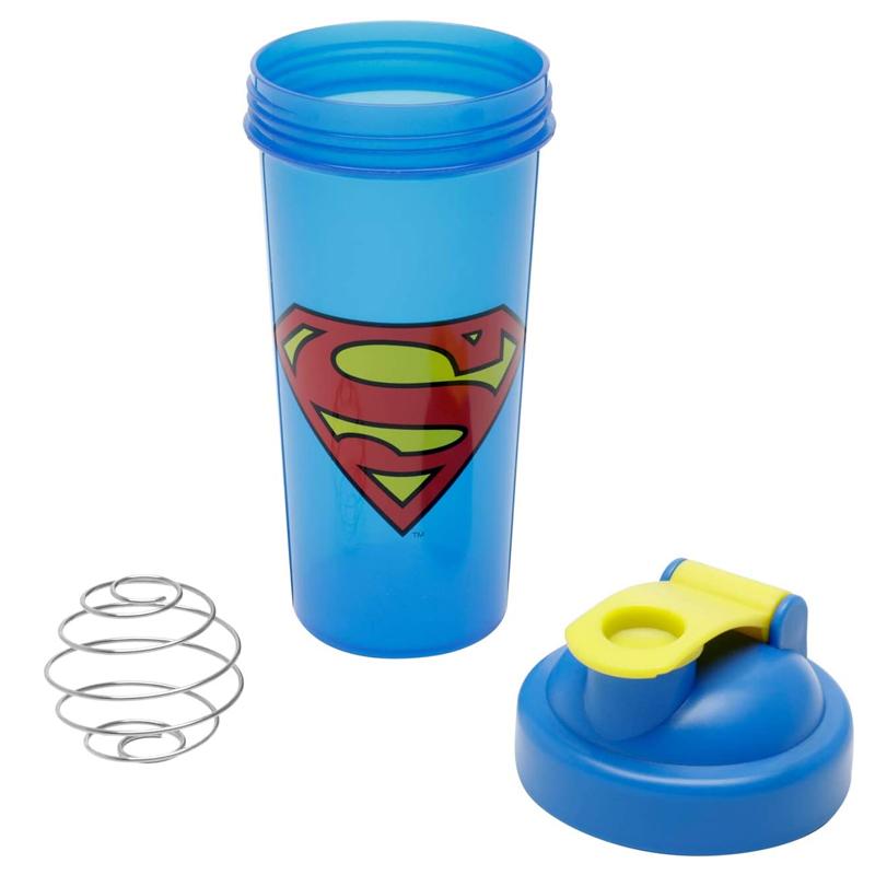 Garrafa Shake Plástico Superman Logo
