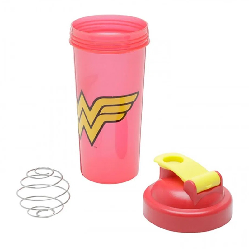 Garrafa Shake Plástico Wonder Woman Logo