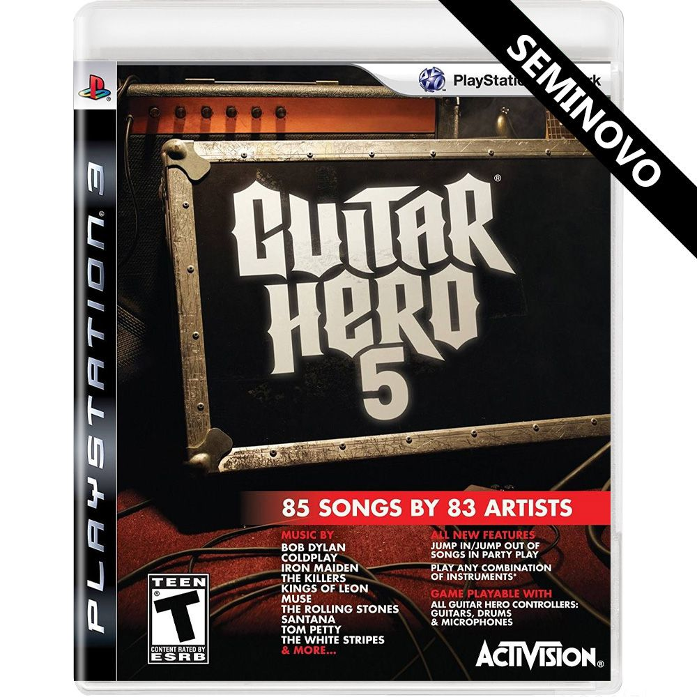 Guitar Hero 5 - PS3 (Seminovo)