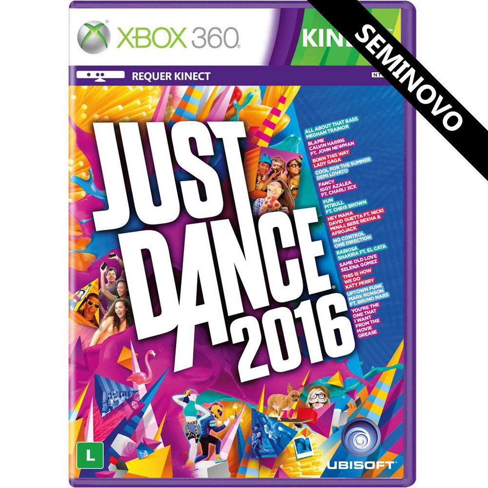 Just Dance 2016 - Xbox 360 (Seminovo)