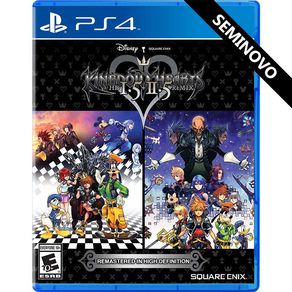 Kingdom Hearts HD 1.5 + 2.5 Remix - PS4 (Seminovo)