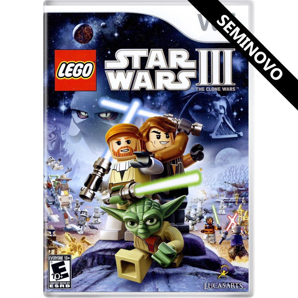 LEGO Star Wars III: The Clone Wars - Wii (Seminovo)