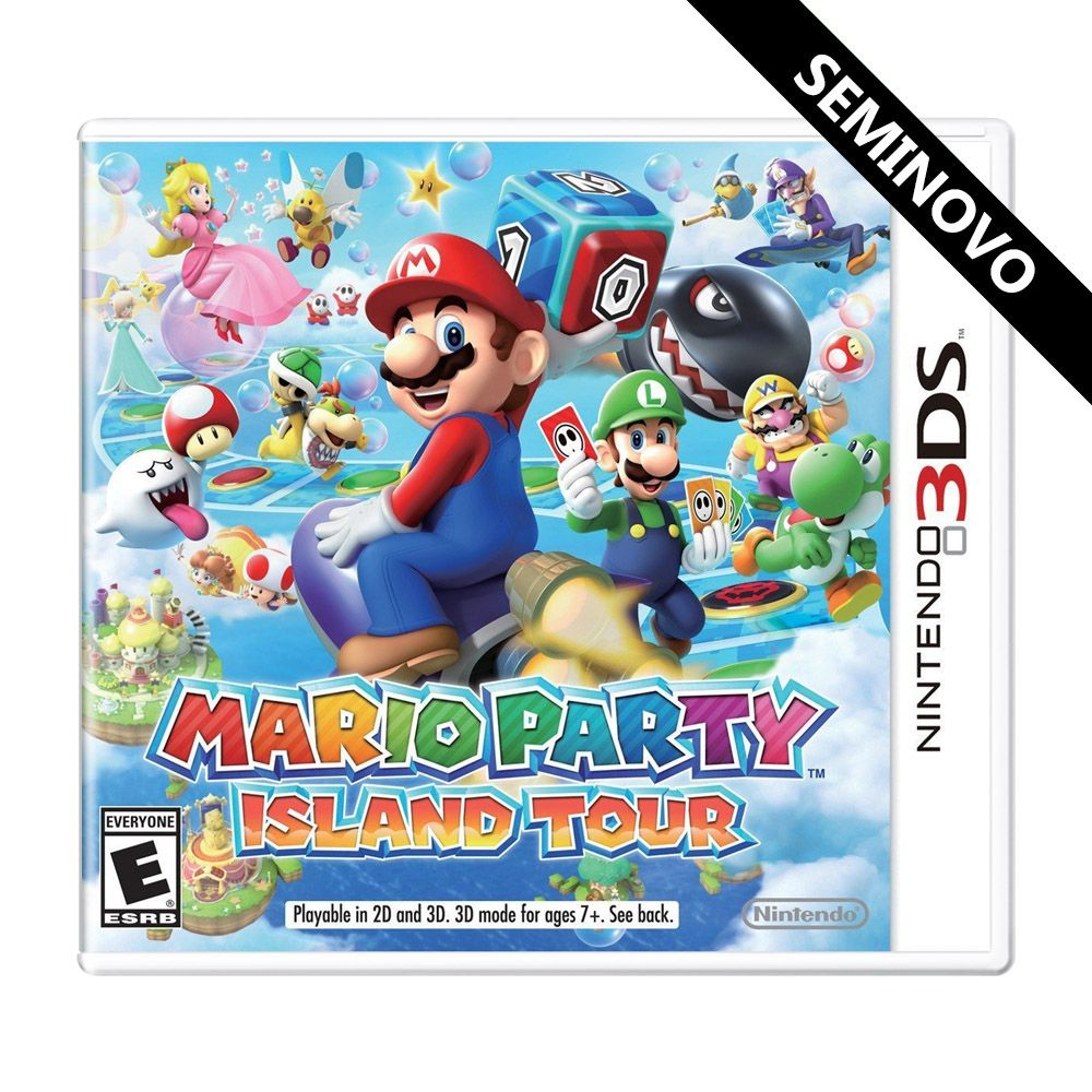 Mario Party Island Tour - 3DS (Seminovo)