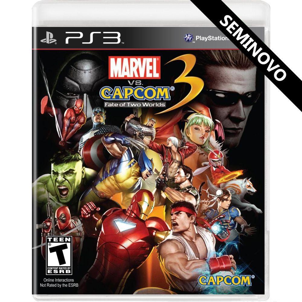 Marvel vs Capcom 3 Fate of Two Worlds - PS3 (Seminovo)