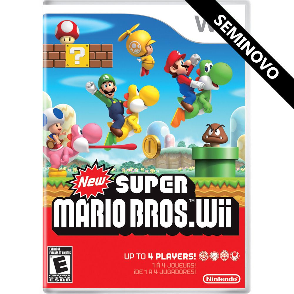 New Super Mario Bros Wii - Wii (Seminovo)