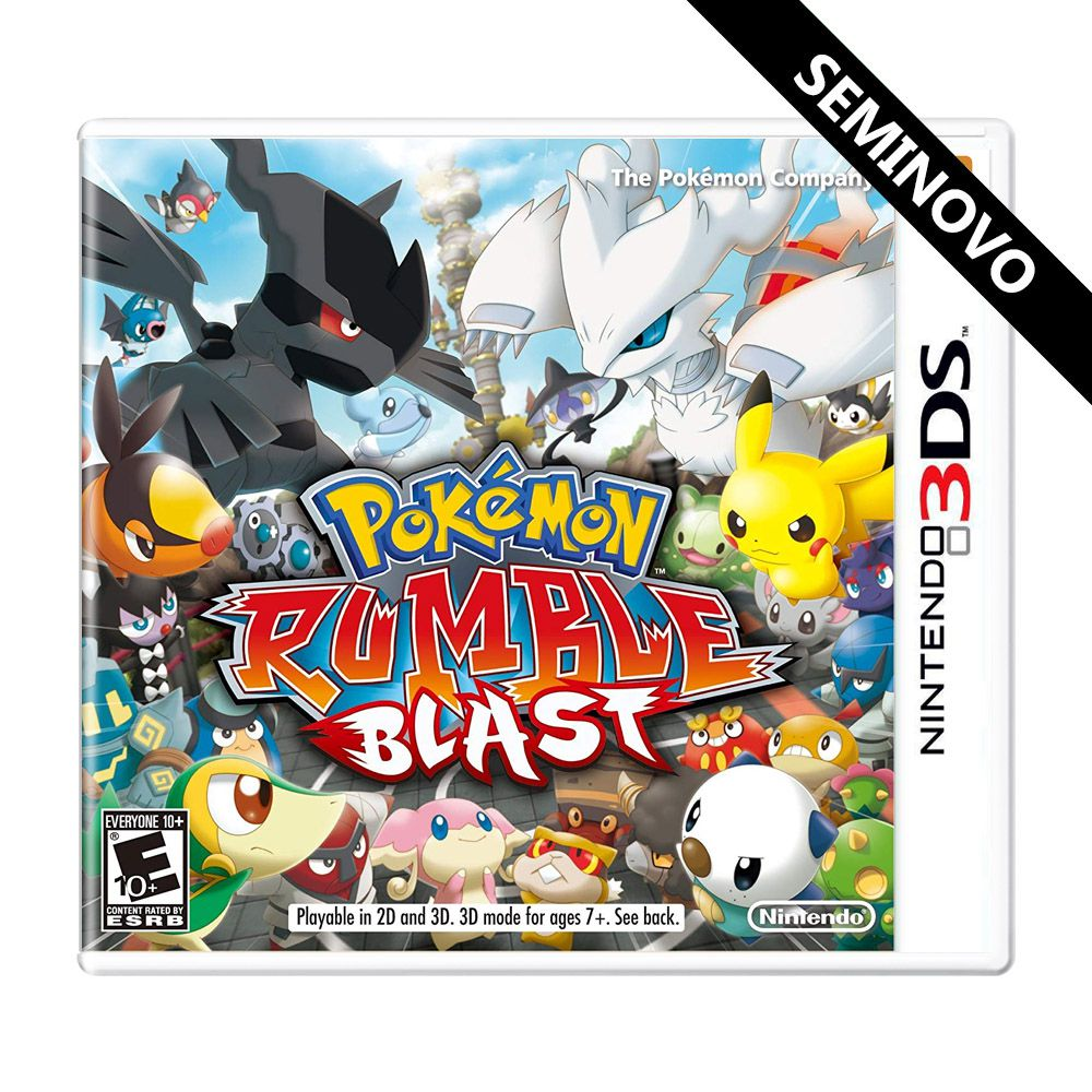 Pokémon Rumble Blast - 3DS (Seminovo)