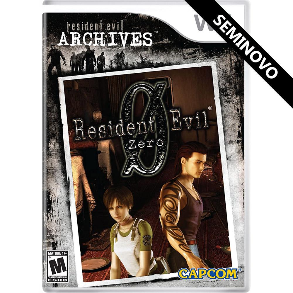 Resident Evil Archives: Resident Evil Zero - Wii (Seminovo)