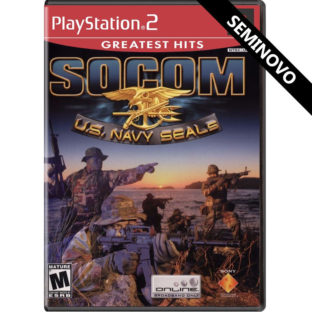 SOCOM U.S. Navy Seals (Greatest Hits) - PS2 (Seminovo)