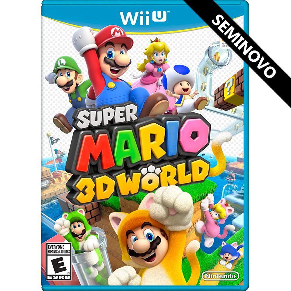 Super Mario 3D World - Wii U (Seminovo)