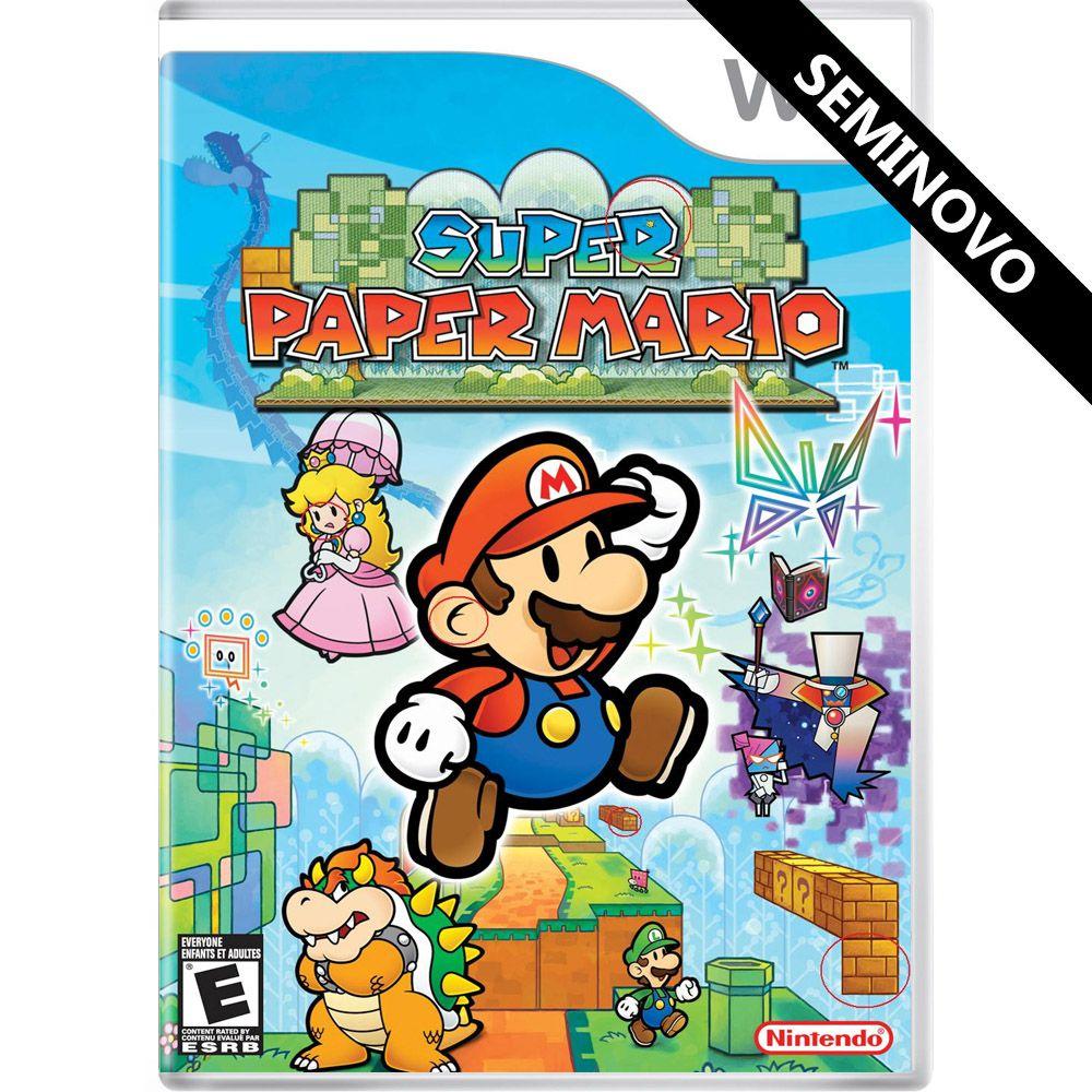 Super Paper Mario - Wii (Seminovo)
