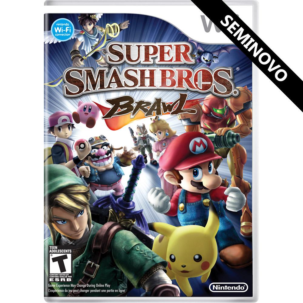 Super Smash Bros Brawl - Wii (Seminovo)