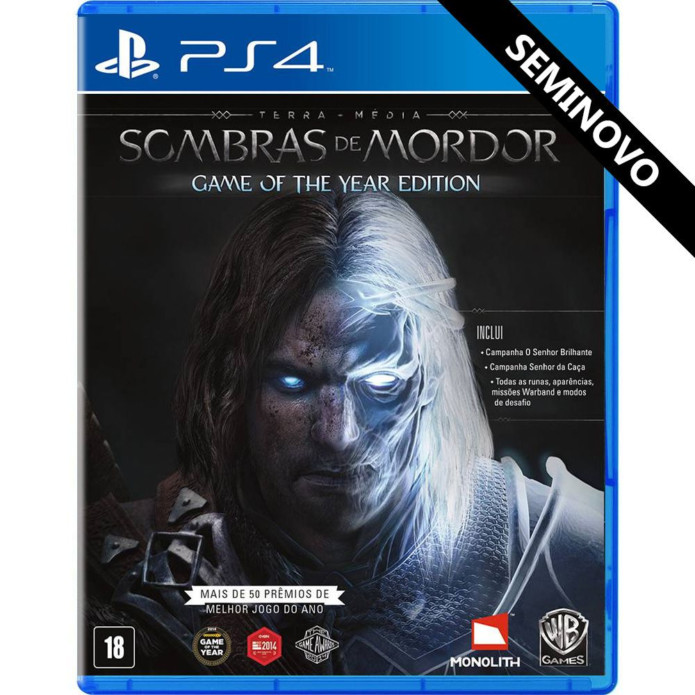 Terra-Média Sombras de Mordor (Game of the Year Edition) - PS4 (Seminovo)