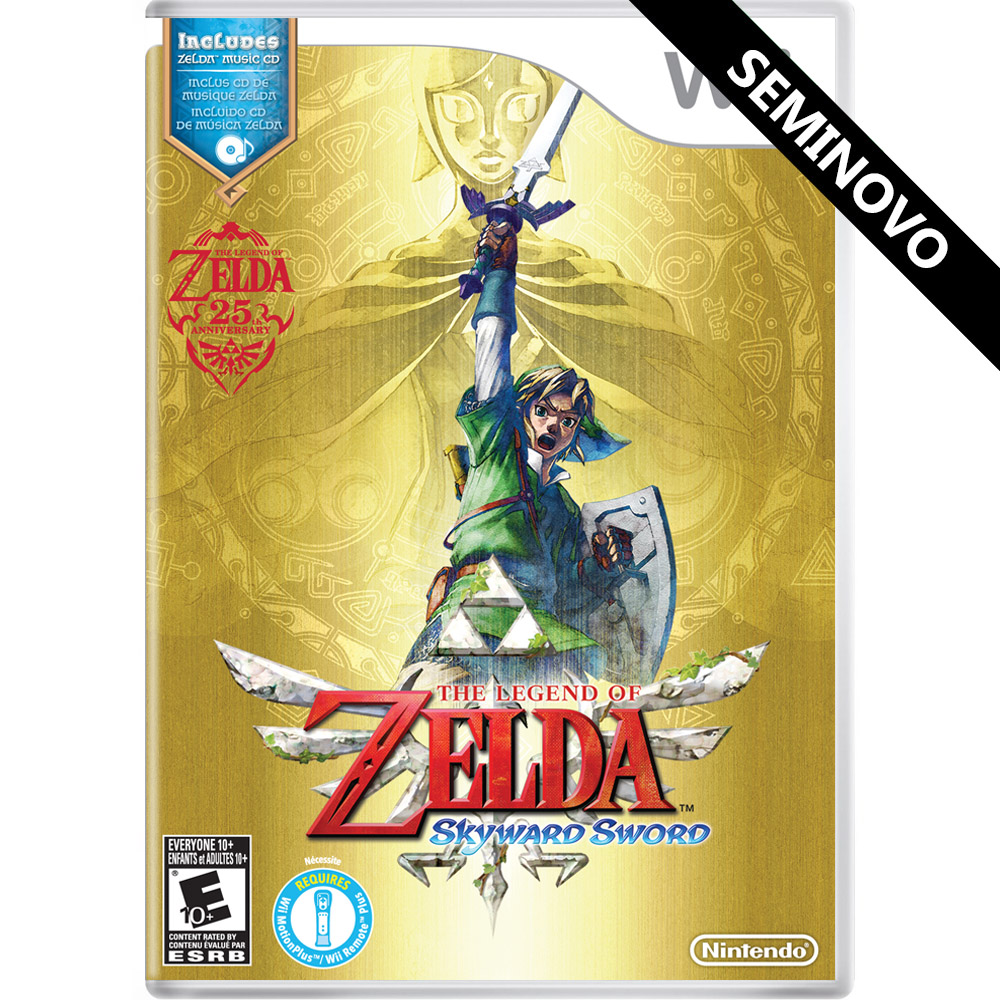 The Legend of Zelda Skyward Sword - Wii (Seminovo)