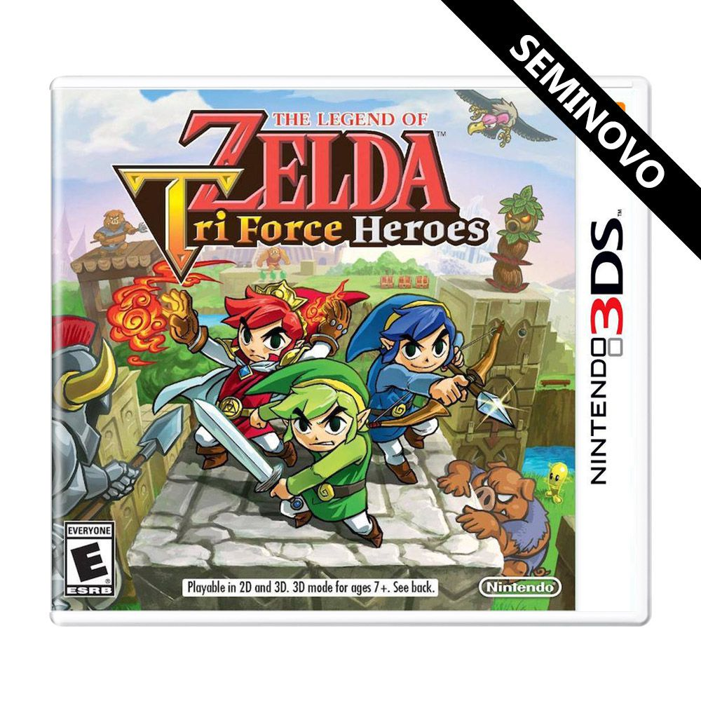 The Legend of Zelda Tri Force Heroes - 3DS (Seminovo)