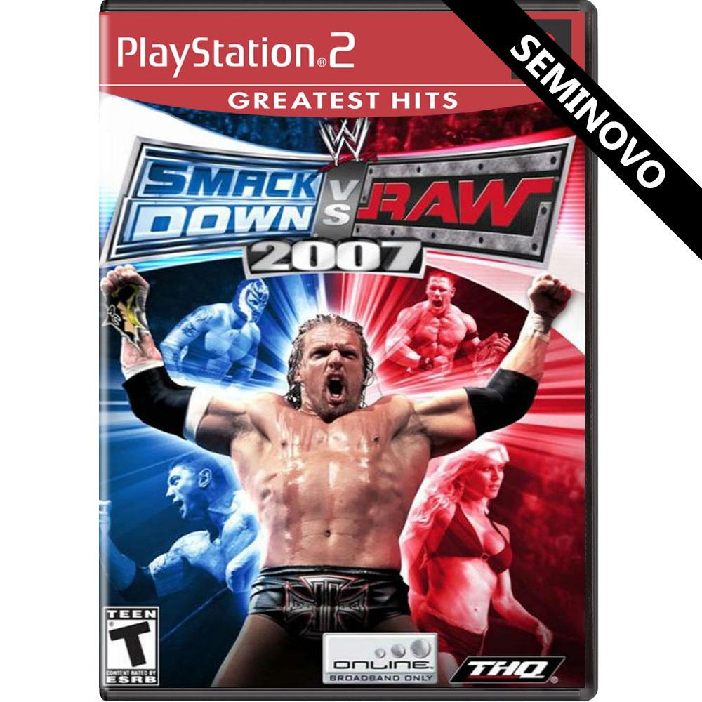 WWE SmackDown vs Raw 2007 - PS2 (Seminovo)