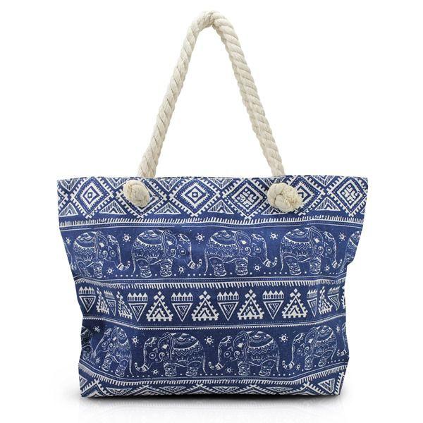 Bolsa de Praia com alça de corda Jacki Design