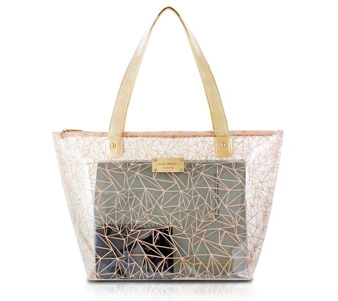 Bolsa Shopper Transparente Crystal Jacki Design