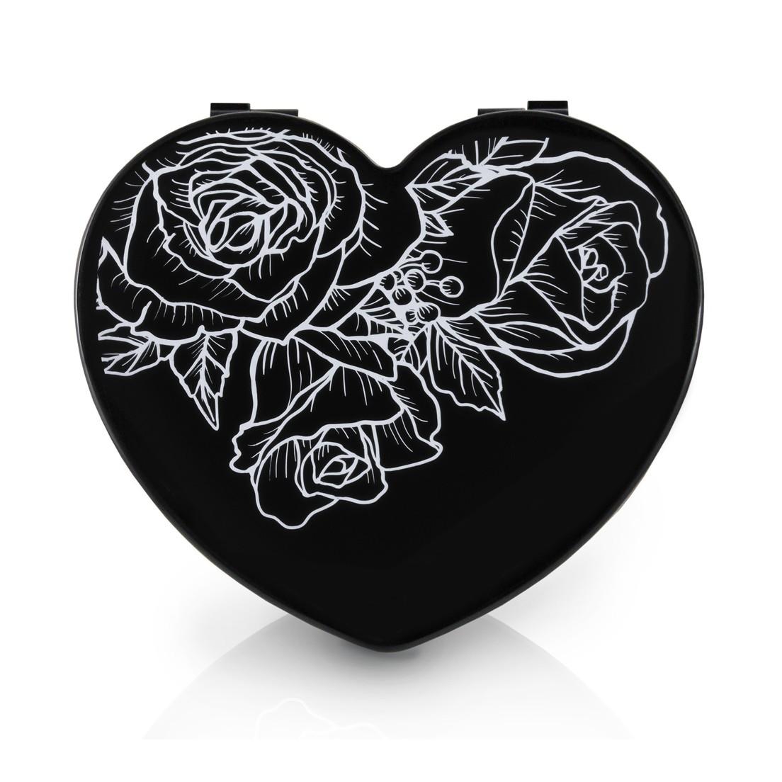 BLACK - Caixa Organizadora Coração Tamanho Pequeno Jacki Design