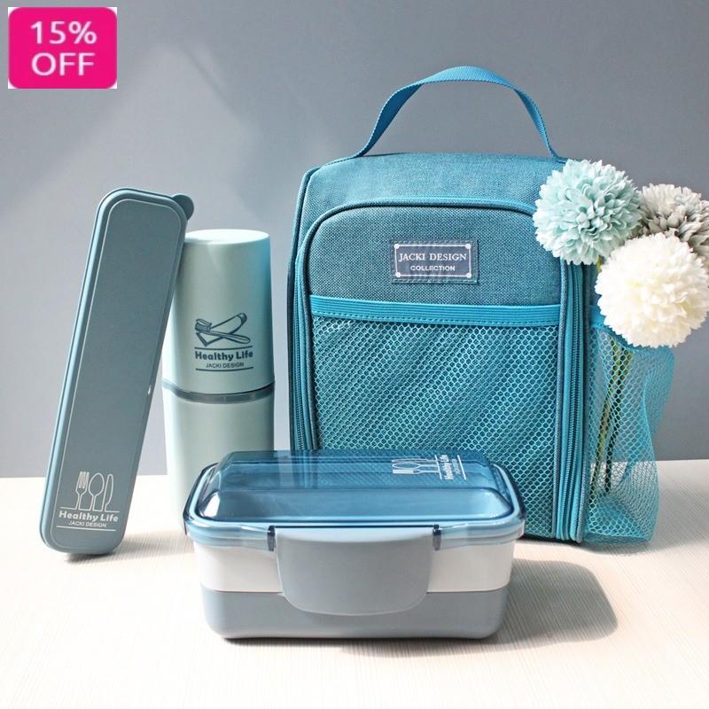 Conjunto Bolsa Termica , Marmita 2 andares, Porta escova de Dentes e Talher Linha Concept Jacki Design