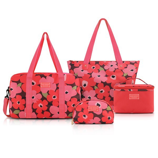 Conjunto de Bolsa de 4 Peças Papoula Jacki Design