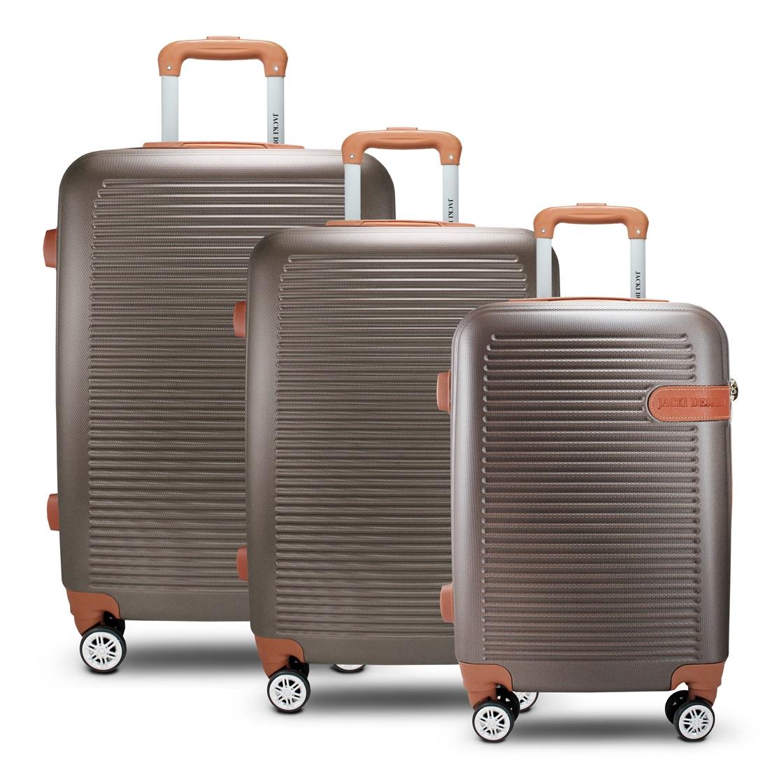 Conjunto de Mala de Viagem 3 Peças Premium Jacki Design Viagem Bronze