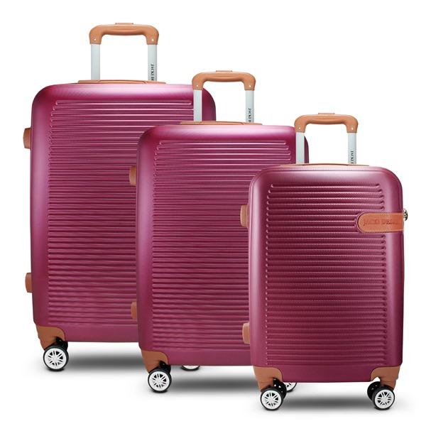 Conjunto de Mala de Viagem com 3 Peças Vinho Premium Jacki Design