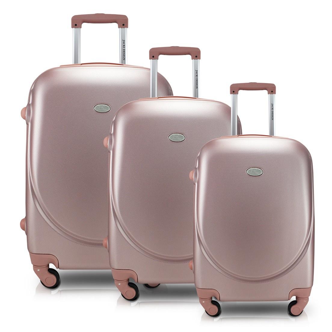 Conjunto de Malas de Viagem e Alça com 3 Peças Rose Gold Select Jacki Design