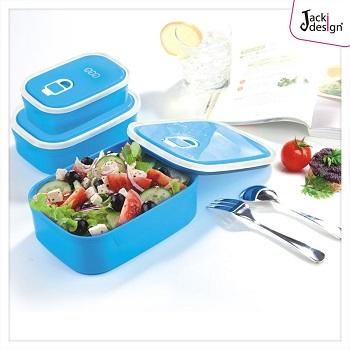 Conjunto de Potes para Alimentos com 3 Peças Lifestyle Jacki Design