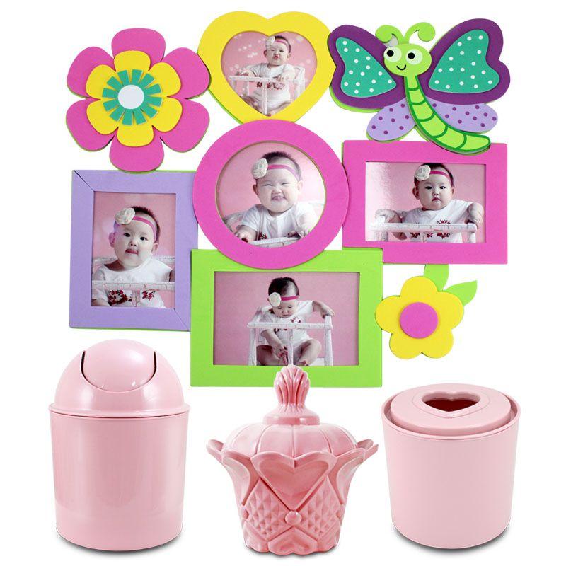 Conjunto Cesto Organizador com 3 peças e Adesivo Jacki Design Lifestyle
