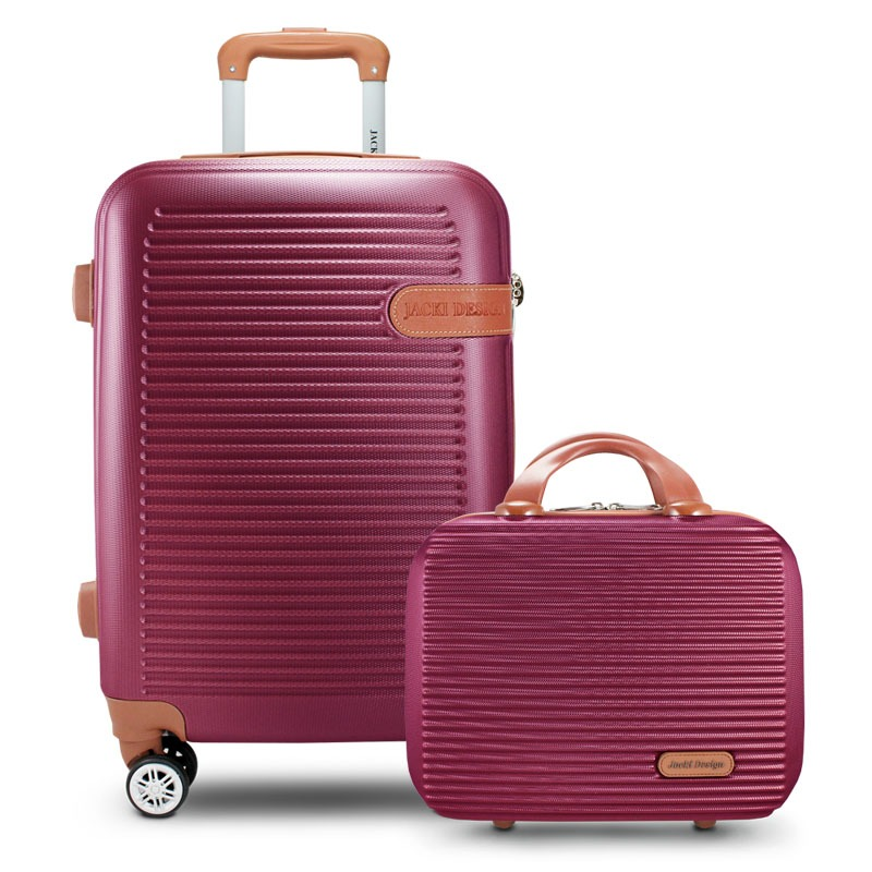 Conjunto mala e frasqueira de viajem  Premium Vinho Jacki Design