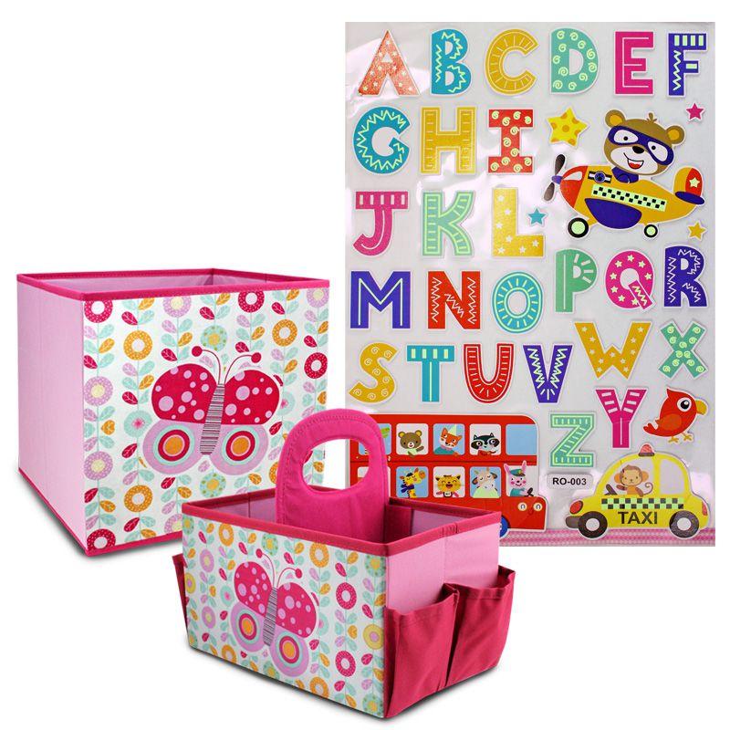 Conjunto Organizador Infantil Com Adesivo Para Criança