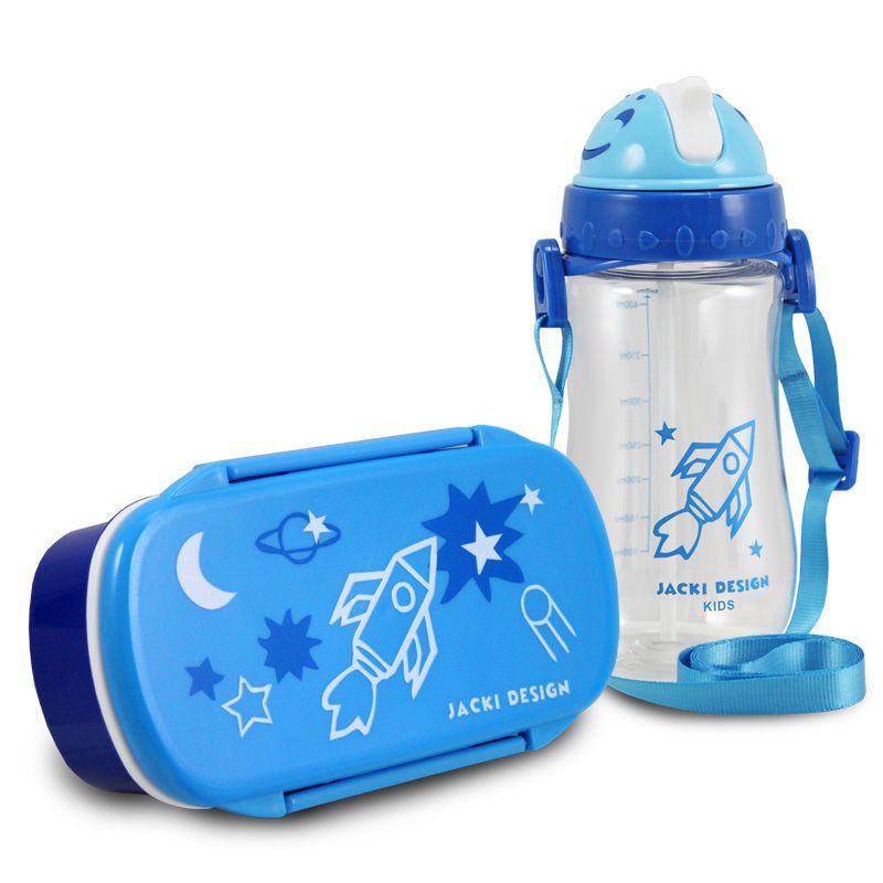 Conjunto Pote para Lanche e Squeeze Infantil Sapeka Menino Jacki Design