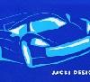 Carro Azul Escuro